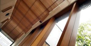 Beautiful timber panelling.