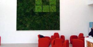 Decorative moss walls.